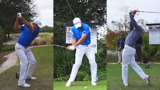 JASON DAY PRACTICE ROUND FOOTAGE - GOLF SWING FROM WIN AT 2014 TEMPLETON SYNCED & SLOW MOTION 1080p