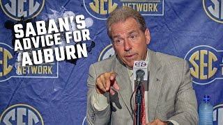 Nick Saban offers advice to Auburn on playing Clemson and Deshaun Watson