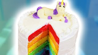 HOW TO MAKE A RAINBOW CAKE - NERDY NUMMIES