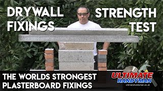 Plasterboard fixings strength test | Drywall fixings strength test