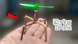 Homemade flying helicopter drone with dc motor - Flying helicopter toy