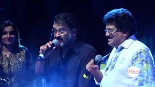 Mohanlal, M. G. Sreekumar,  Manjari  performance in Bahrain by gulf colours Productions Bahrain