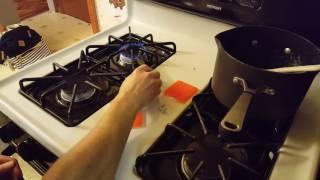 Inserting nut into pla plastic.