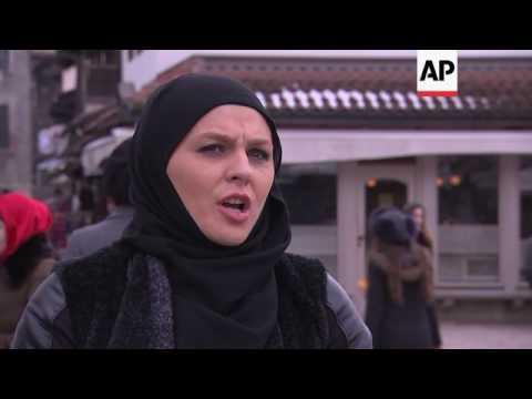Xxx Mp4 Muslim Women Help Non Muslims Try The Hijab 3gp Sex