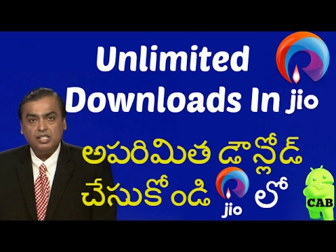Unlimited Downloads In Jio (1GB Remove/ Happy Hour)In Telugu