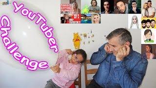 YOUTUBER CHALLENGE !! Dev Balon kimde patlayacak? - Eğlenceli Çocuk Videosu - Funny Kids Videos