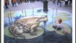 Chalk Artist Goes 3-D (CBS News)