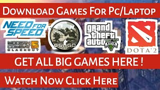 Download Any Games On Laptop/Pc Free  | Download Big Size Game In Less Size 2017