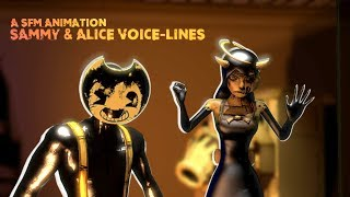[BENDY SFM] BENDY AND THE INK MACHINE All Chapter 5 Voice lines Animated PART 1 (SFM)
