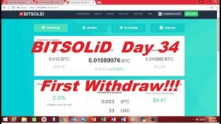 Bitsolid Log Day 34  First Withdraw.