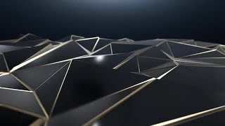 Black and Gold Triangle Background Stock Motion Graphics