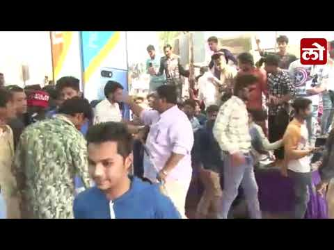 Bouncers Beats Mob Who came to saw actress Zareen Khan in Aurangabad