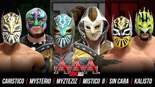 Triplemania 2K16 : Rey Mysterio vs Sin Cara vs Mistico vs Myzteziz vs Kalisto vs Caristico
