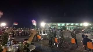 Nobar TIMNAS INDONESIA VS thailand di KODAM VII/TPR,PONTIANAK
