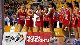 Netball Match Highlights: Thailand 🇹🇭 vs Singapore 🇸🇬  | 29th SEA Games 2017