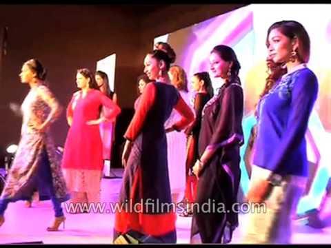 Saina Nehwal walks the ramp at KAIRA fashion show