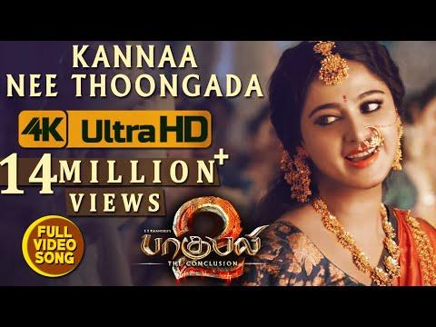 Xxx Mp4 Kannaa Nee Thoongada Full Video Song Baahubali 2 Video Songs Tamil Prabhas Anushka Shetty Rana 3gp Sex