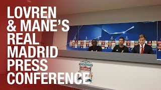 Lovren and Mane preview the Champions League final   Press Conference