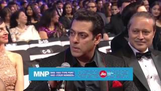 Shahrukh convinces Salman to port his number. Watch Salman react.