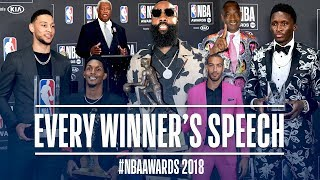 EVERY Speech From The NBA Awards!   Harden, Gobert, Oladipo and More!