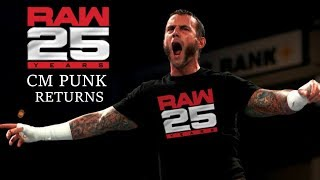 CM Punk Returns To WWE For One Night Only Jan. 22 2018 | Edited