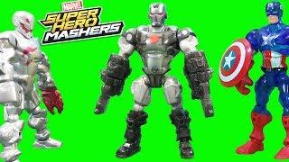 Marvel Super Hero Mashers Captain America, Iron Man, Black Panther, War Machine & Crossbones Part 2