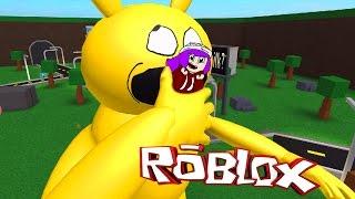 ROBLOX ESCAPE A VERY HUNGRY PIKACHU | PIKA DESTROYS WALMART & MCDONALDS | RADIOJH GAMES & MICRO