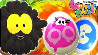 Easter Egg Painting With Squishy Balls   Funny Cartoons For Kids   WonderBalls