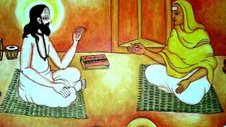 CHATTAMBI SWAMI'S LIFE IN MURAL PAINTING OIL PAINTING