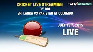 CRICKET LIVE STREAMING: 3rd ODI - Sri Lanka v/s Pakistan, R Premadasa Stadium, Colombo