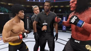 Bruce Lee Vs. Hellboy (EA Sports UFC 2) - CPU Vs. CPU