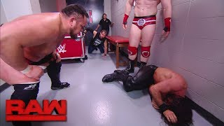 Samoa Joe, Sheamus and Cesaro brutalize Dean Ambrose in the trainer's room: Raw, Dec. 18, 2017