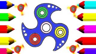 Fun Draw Fidget Spinner For Children Play Spinner Drawing & Coloring Book For Kids