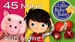 If You're Happy And You Know It | Plus More Nursery Rhymes | 45 Mins Compilation by LittleBabyBum!