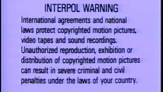 FBI Warning/Interpol Warning Screens (1992)