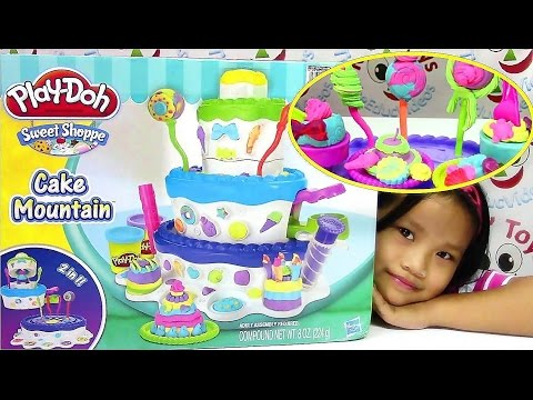Play-Doh Sweet Shoppe Cake Mountain Playset - Play Doh Plus Frosting