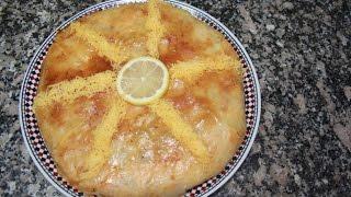 بسطيلة بالحوت  و الشعرية الصينية   السمك سهلة بالخطوات pastilla au poisson marocaine