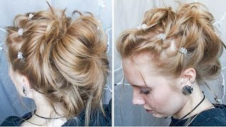 Easy/messy/cute/elagent Possibly 90's Inspired Updo
