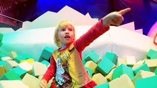 Indoor Playground Family Fun for Kids Part 8 with Spelling | Ball Pits, Slides, Tunnels, Rides