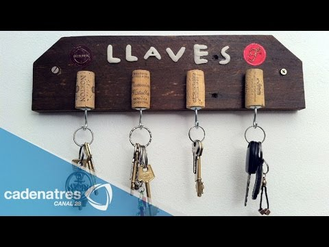 C mo hacer un porta llaves tutorial para hacer un porta - Porta llaves pared ...