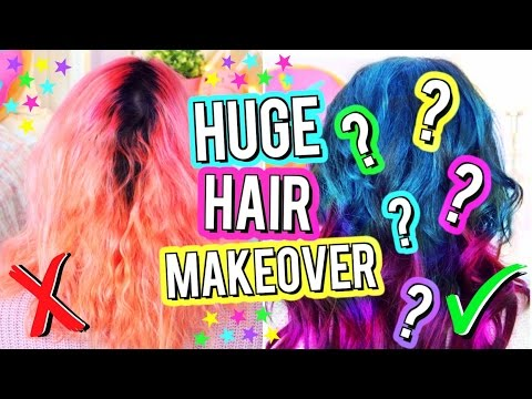 HUGE HAIR MAKEOVER 2017! MY NEW HAIR Watch Me CHANGE My Hair! Tape In Hair Extensions!