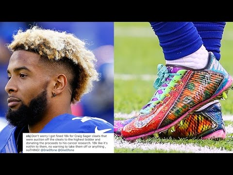 WTF Odell Beckham Jr FINED 18 000 by NFL for Wearing Custom Craig Sager Cleats