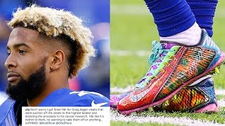 WTF?! Odell Beckham Jr FINED $18,000 by NFL for Wearing Custom Craig Sager Cleats