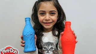 kids Pretend Play Magic with Play Doh Shoe and Cola!