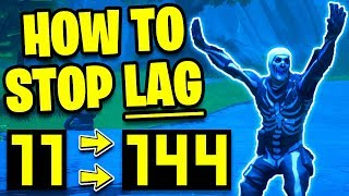 How To STOP LAG on FORTNITE! INCREASE FPS & PERFORMANCE | Fortnite Best Settings to STOP LAG on PC