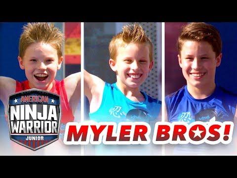 Myler Brothers NINJA COURSE SHOWDOWN Ninja Kidz TV American Ninja Warrior Junior