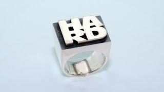 Silver ring for tough guys handmade