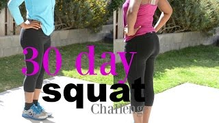 30 Day Squat Challenge - Before and After Results | Does it work?  | Should I do 140 or 250 squats