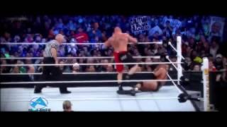 Brock Lesnar vs Triple H Wrestlemania 29 Highlights HD