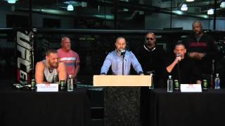 The Best Of Conor McGregor And Nate Diaz At Their Pre-Fight Press Conference